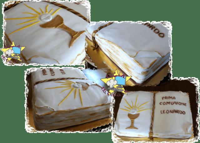 Torta libro per prima comunione for Decorazione torte prima comunione