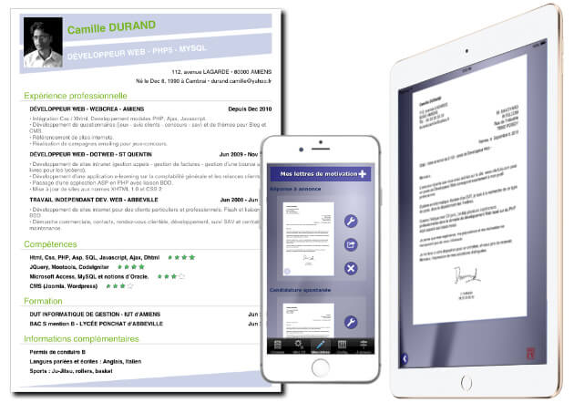 creer cv sur android