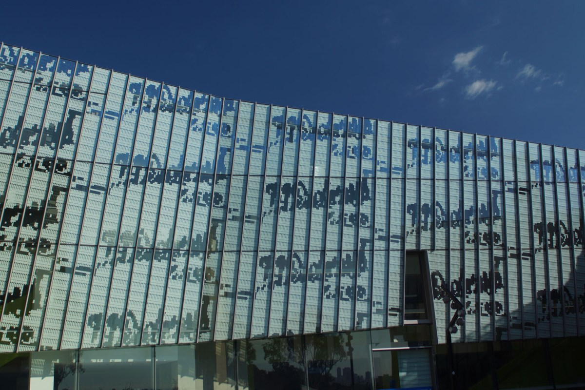 Digitally printed glass facade