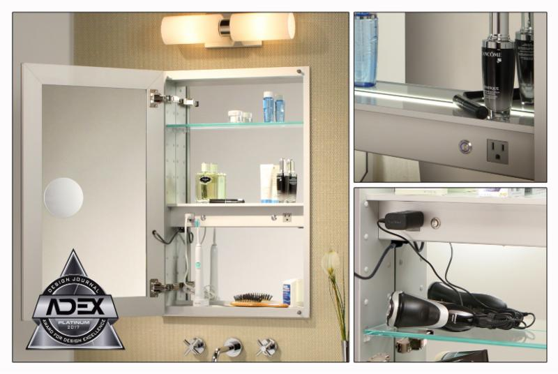 Mirrored Cabinet With Electric Option 2017 Adex Platinum