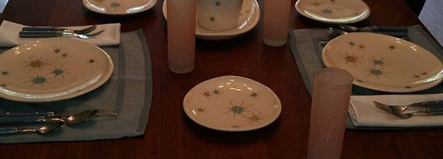 Guess-whos-coming-to-dinner-fransciscan-starburst-fransciscanplacesetting-retrochina-midcenturymoder