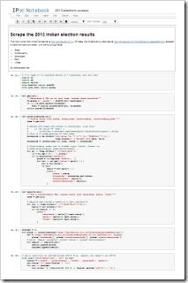 Code for the 2013 election scraper