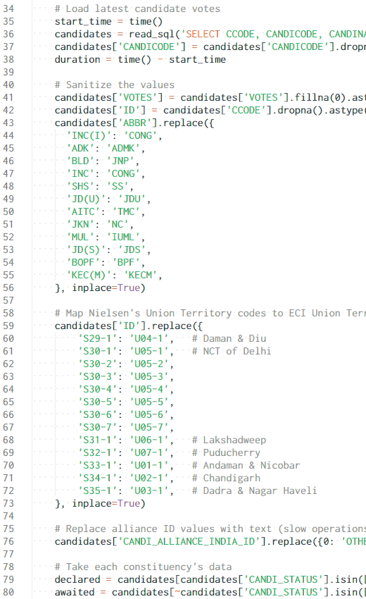 ETL code