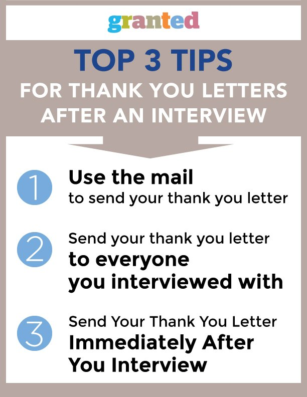 Top 3 Tips for Thank You Letters after an Interview Granted Blog