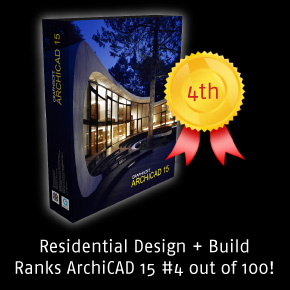 ArchiCAD 15 is #4 on Residential Design + Build's Top 100 Product List