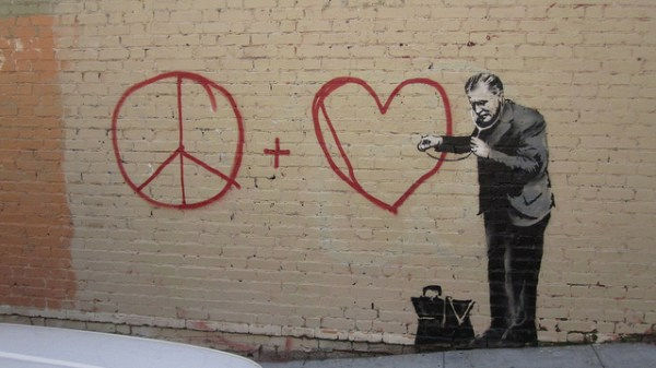 Banksy Peace Love Checkup El Payo
