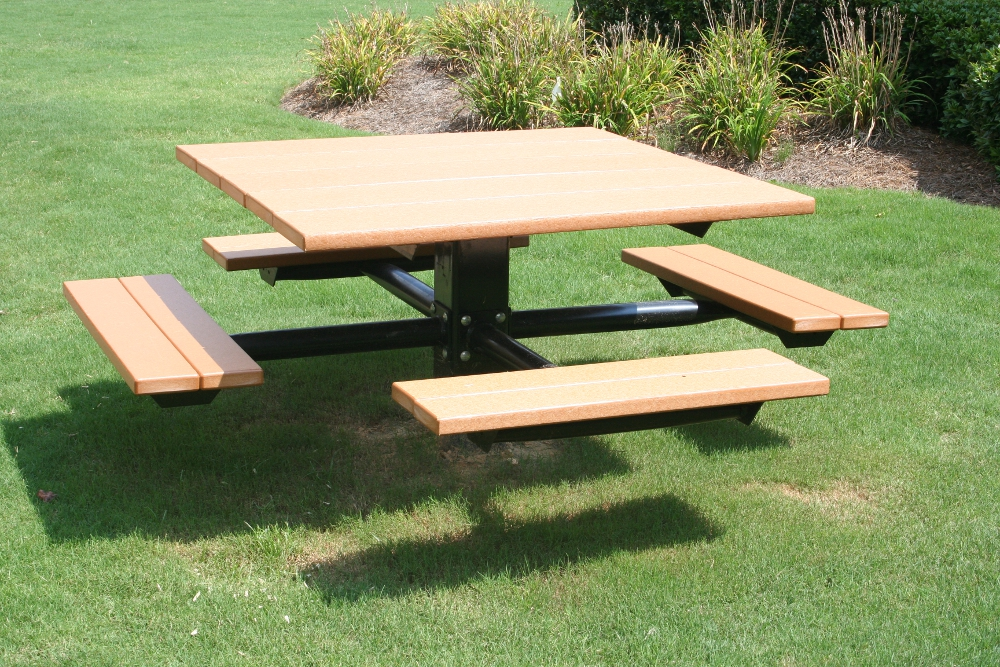Four Seat Recycled Plastic Lumber Picnic Table Green