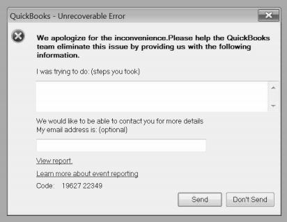 Quickbooks \u2013 Unrecoverable Error \u2013 Solved grimeymedia