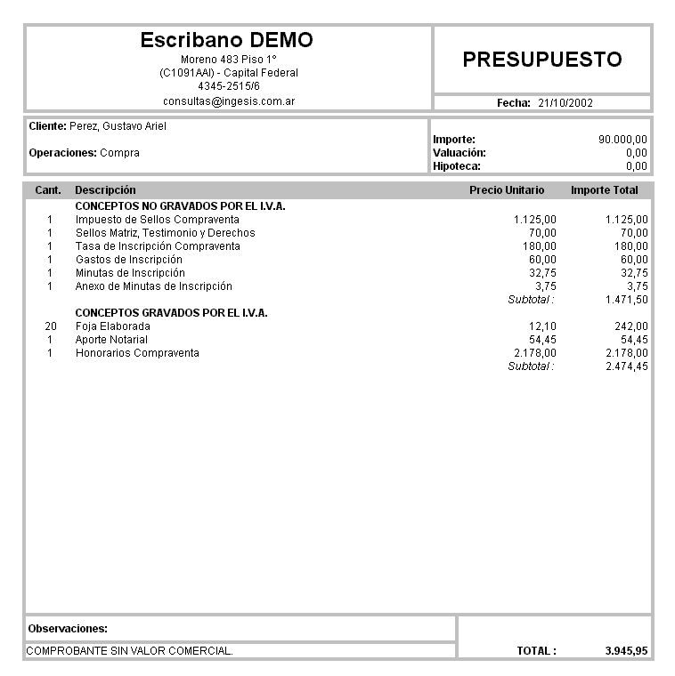 Downloads of Documents for the real-estate buying process in Argentina - formatos de minutas en excel