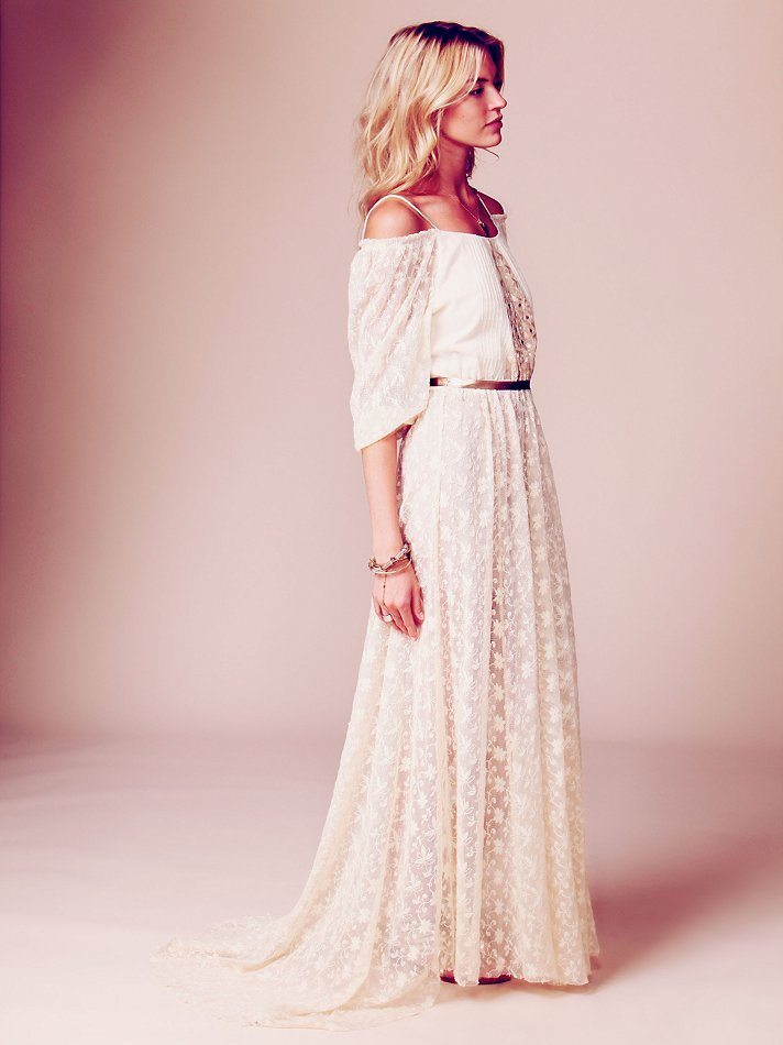 Robe de mariée bohème vintage dentelle , 466.03 euros, Free People