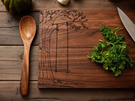 que pensez vous de ces jolies planches à découper en bois et ...