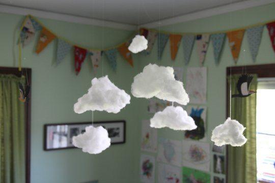 Diy nuages suspendre happy chantilly - Decoration a suspendre ...