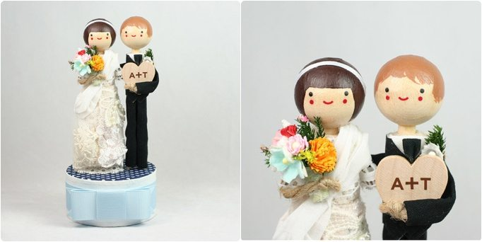 mariage des petites figurines cake topper happy chantilly. Black Bedroom Furniture Sets. Home Design Ideas