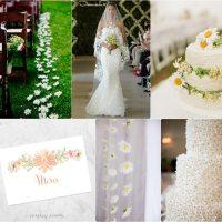 Moodboard: mariage marguerites - daisies wedding