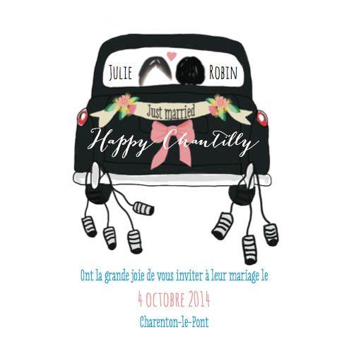 faire part mariage voiture taxi londres illustration aquarelle happy chantilly illustratrice. Black Bedroom Furniture Sets. Home Design Ideas