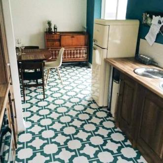 turquoise green vinyl flooring tiles
