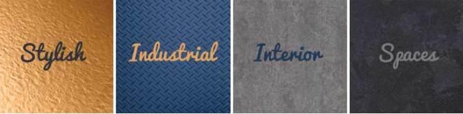 Industrial effect flooring