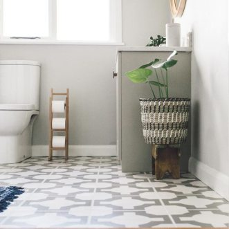 flooring in a bathroom