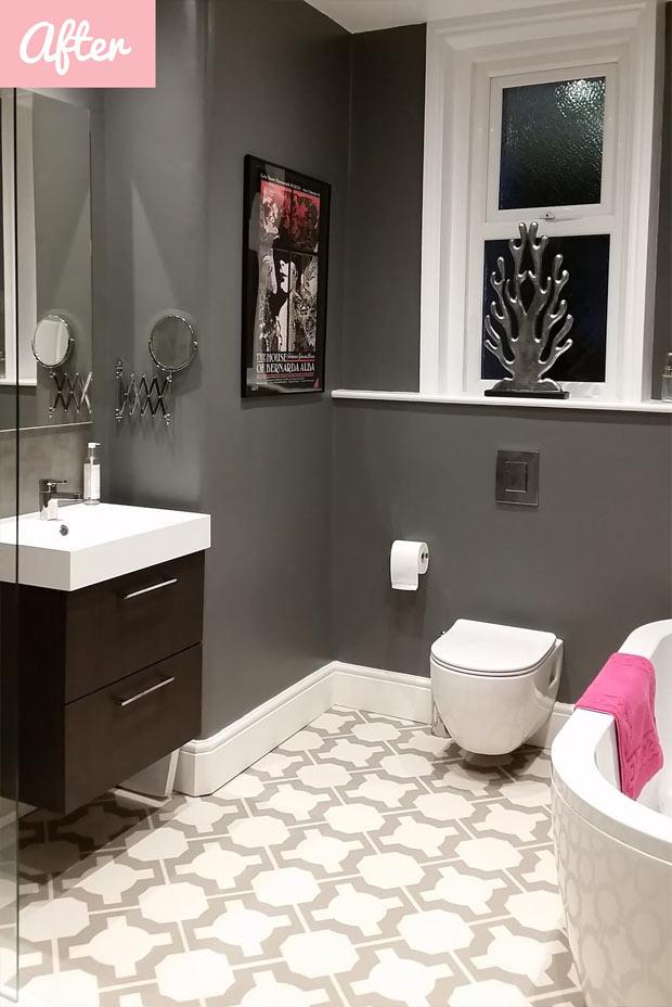 vinyl flooring in modern bathroom