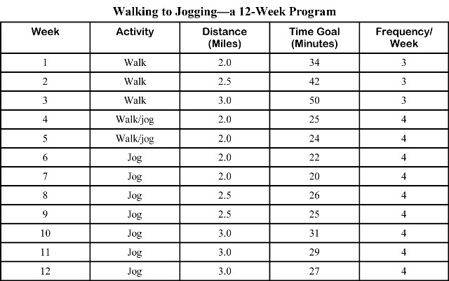 fitness program chart - Onwebioinnovate