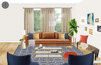 Eclectic Living Room Design With Havenly