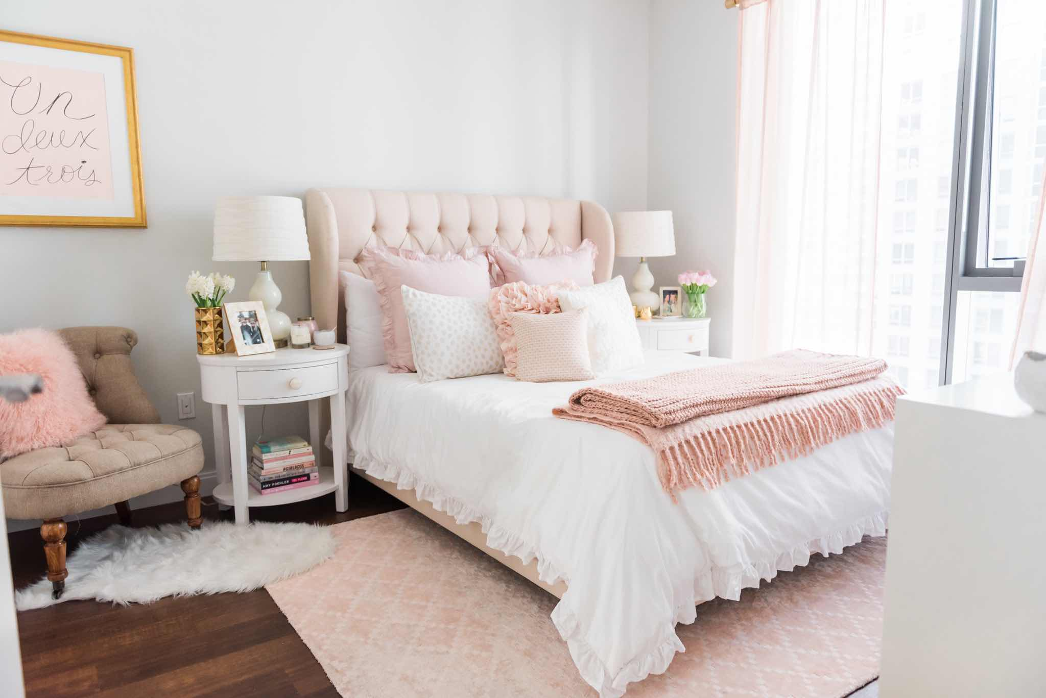 A soft sweet amp blush worthy bedroom design by havenly