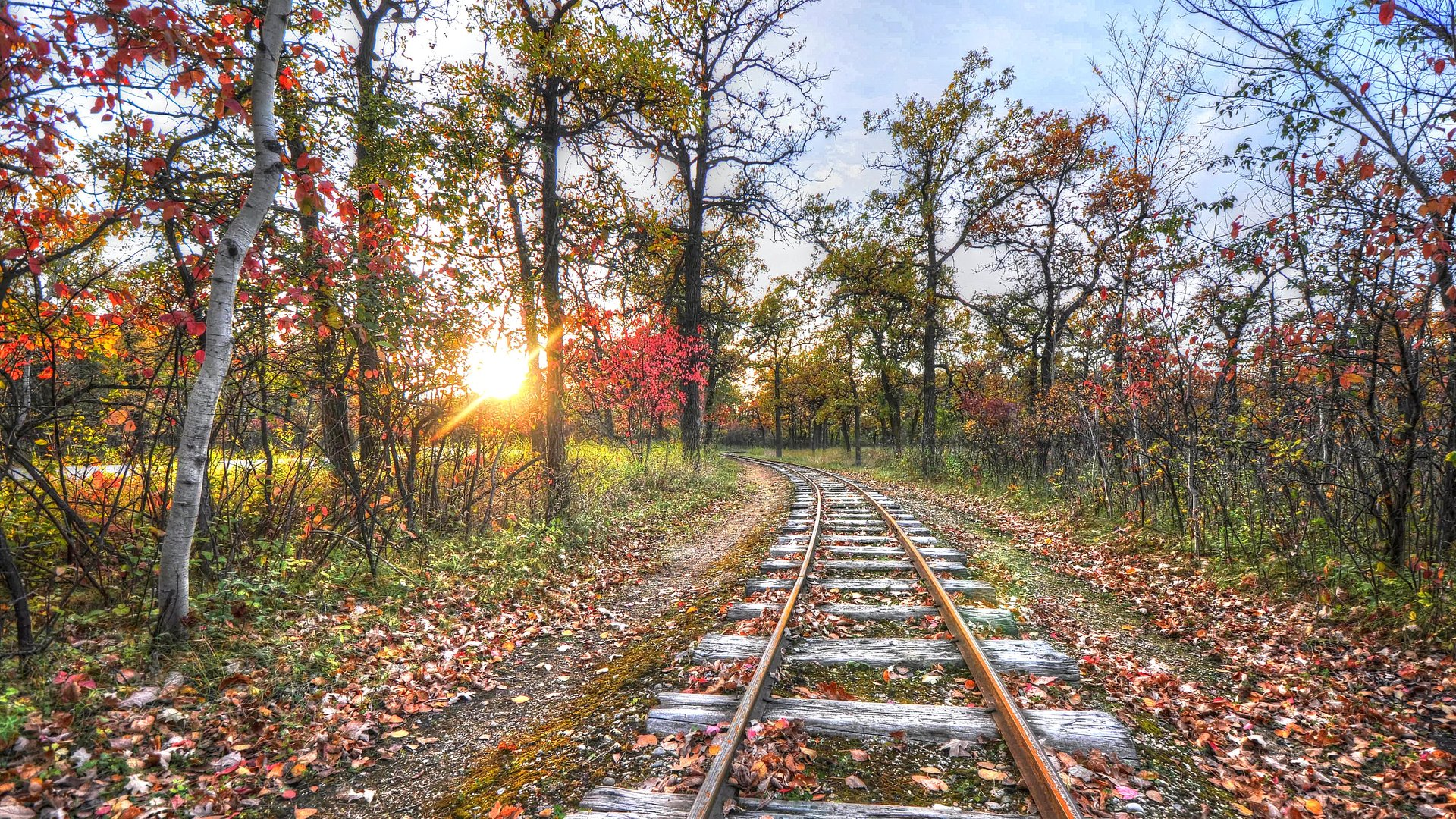 Fall Wallpaper For Computer Screen 17 Wonderful Hd Train Track Wallpapers