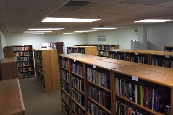Just part of the collection in the Michael Parry Mazur Library at The Heartland Institute.