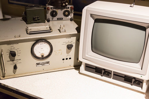 Vintage Audio Components and Computer Monitor