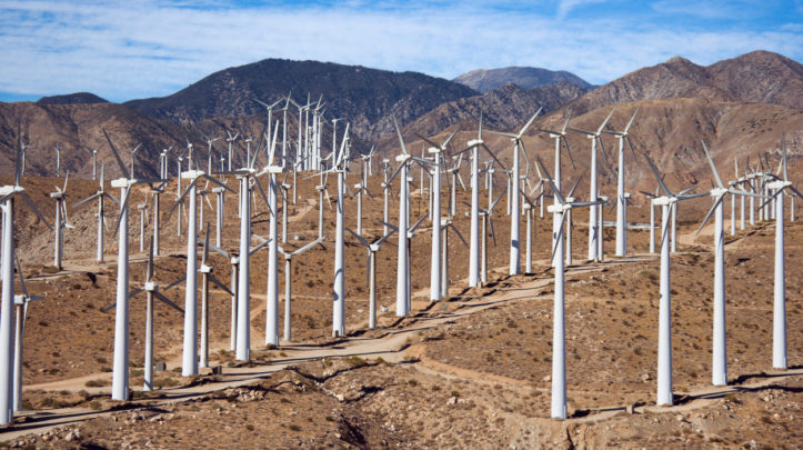 Wind Farm in Desert