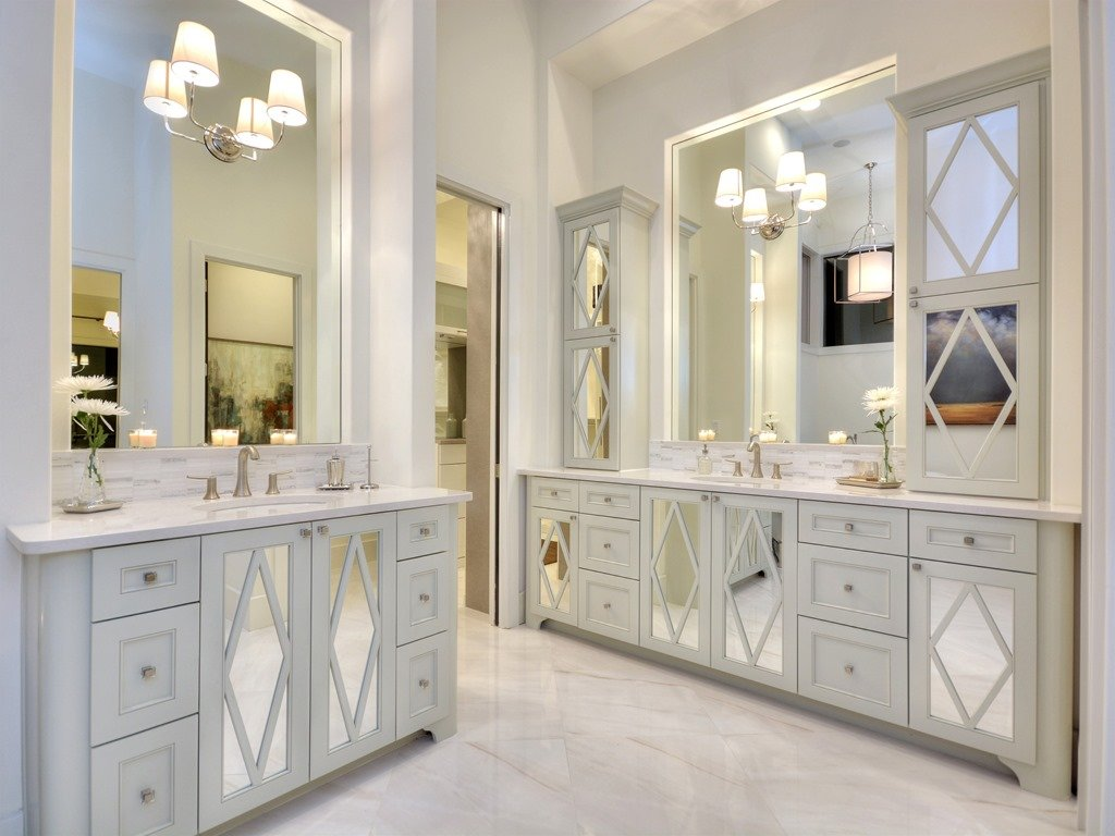 Mirrored Bathroom Cupboard The Austin Parade Of Homes House Photos Heather Scott