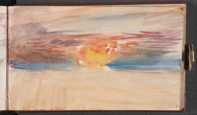 Sonnenuntergang William Turner channel sketchbook