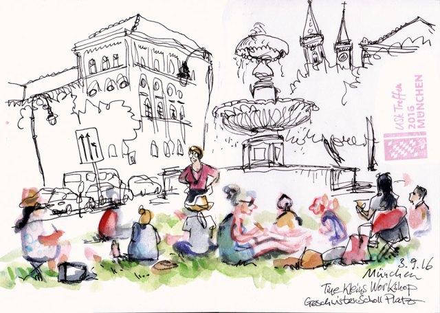 Sizzenbuch von Detlef Surrey: Tine Kleins Workshop