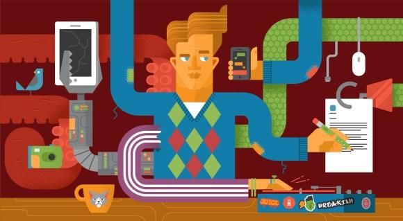 Productivity illustration by Luke Bott