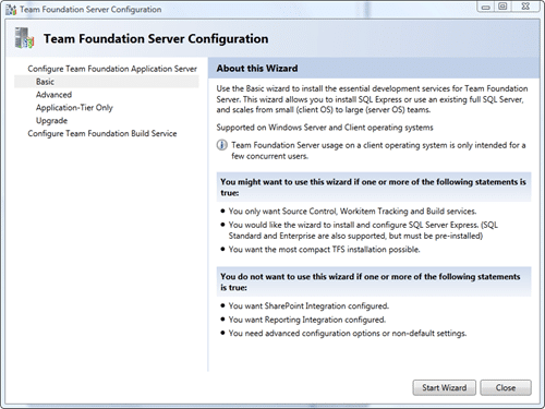 Team Foundation Server Configuration