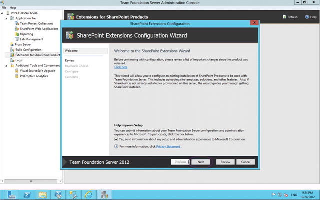 SharePoint Extensions Configuration Wizard