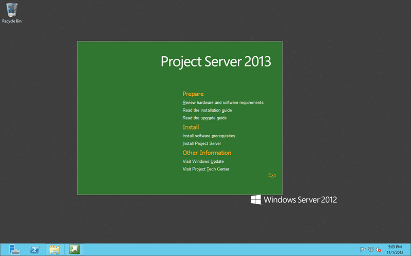Figure: The Project Server 2013 installation wizard looks just like SharePoint 2013