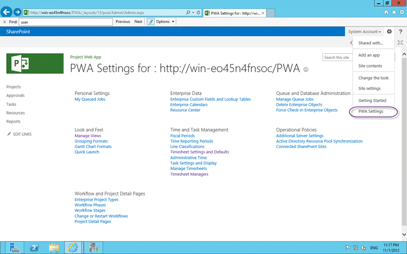 "Oh..Oh.. ""PWA Settings"" in Project Server 2013"