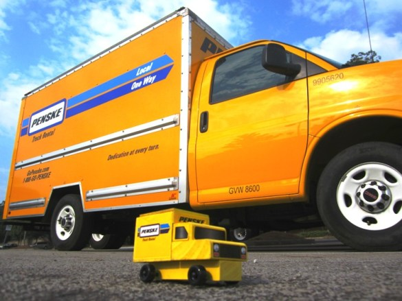 Picture of a Small Toy Penske Moving Truck