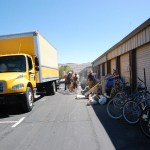 Photo of a Moving Truck at a Storage Facility