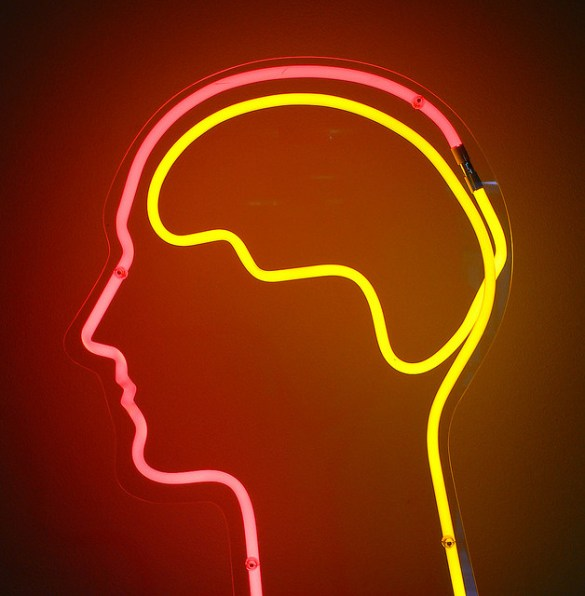 Picture of a Neon Sign Brain