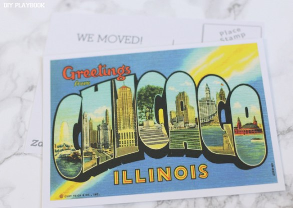 Moving Home Announcement Postcard