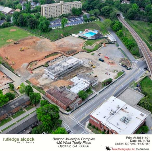Beacon demolition, May 2013 aerial photo. Credit: Rutledge-Alcock Facebook page.