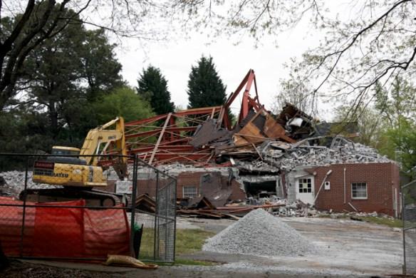 Former Antioch AME Church, demolished April 17-18, 2014.