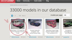 October 2014, 33000 models in Diecastlovers' database