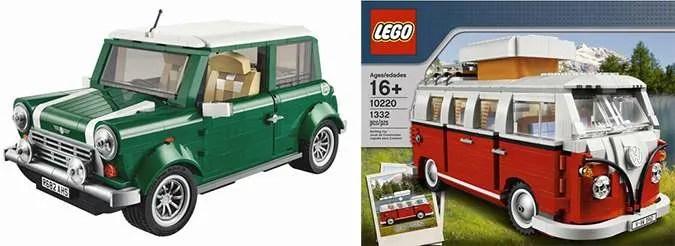 Lego Mini Cooper Volkswagen Bus