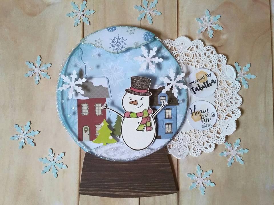 Flakey Friends Snow Globe Card