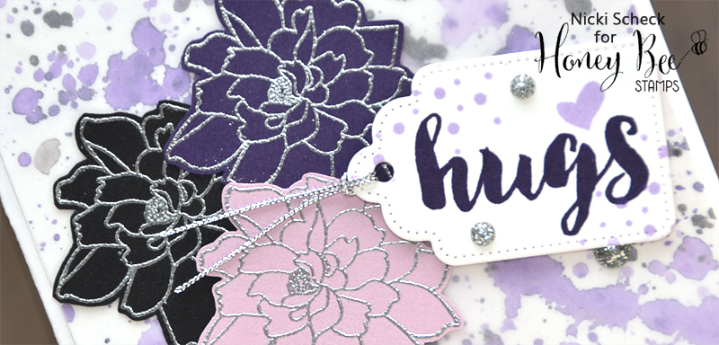 Hugs and Silver Heat Embossing