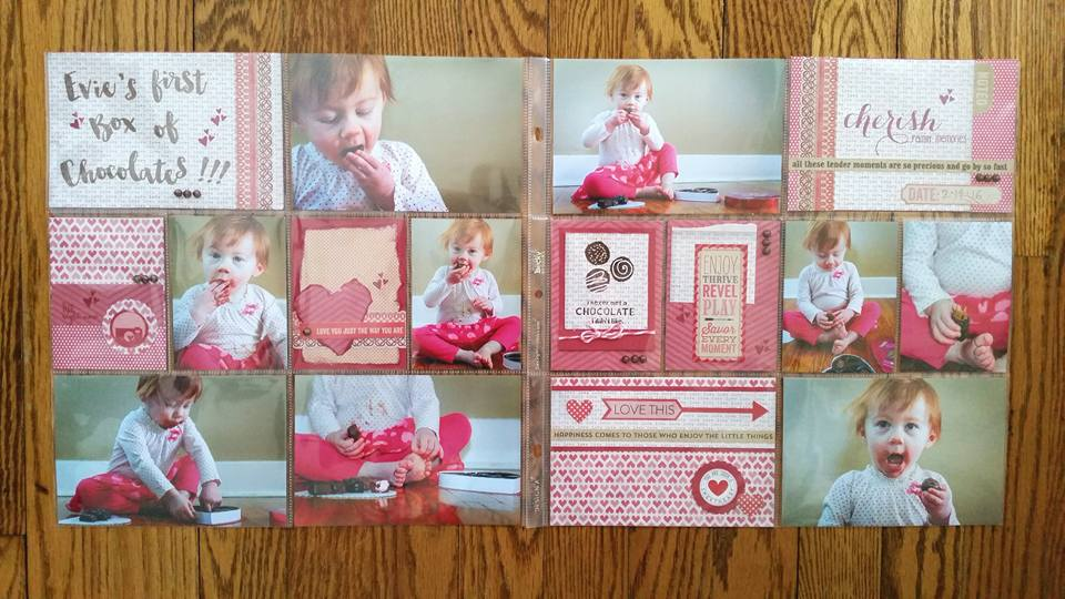 Evie's First Box of Chocolates Layout