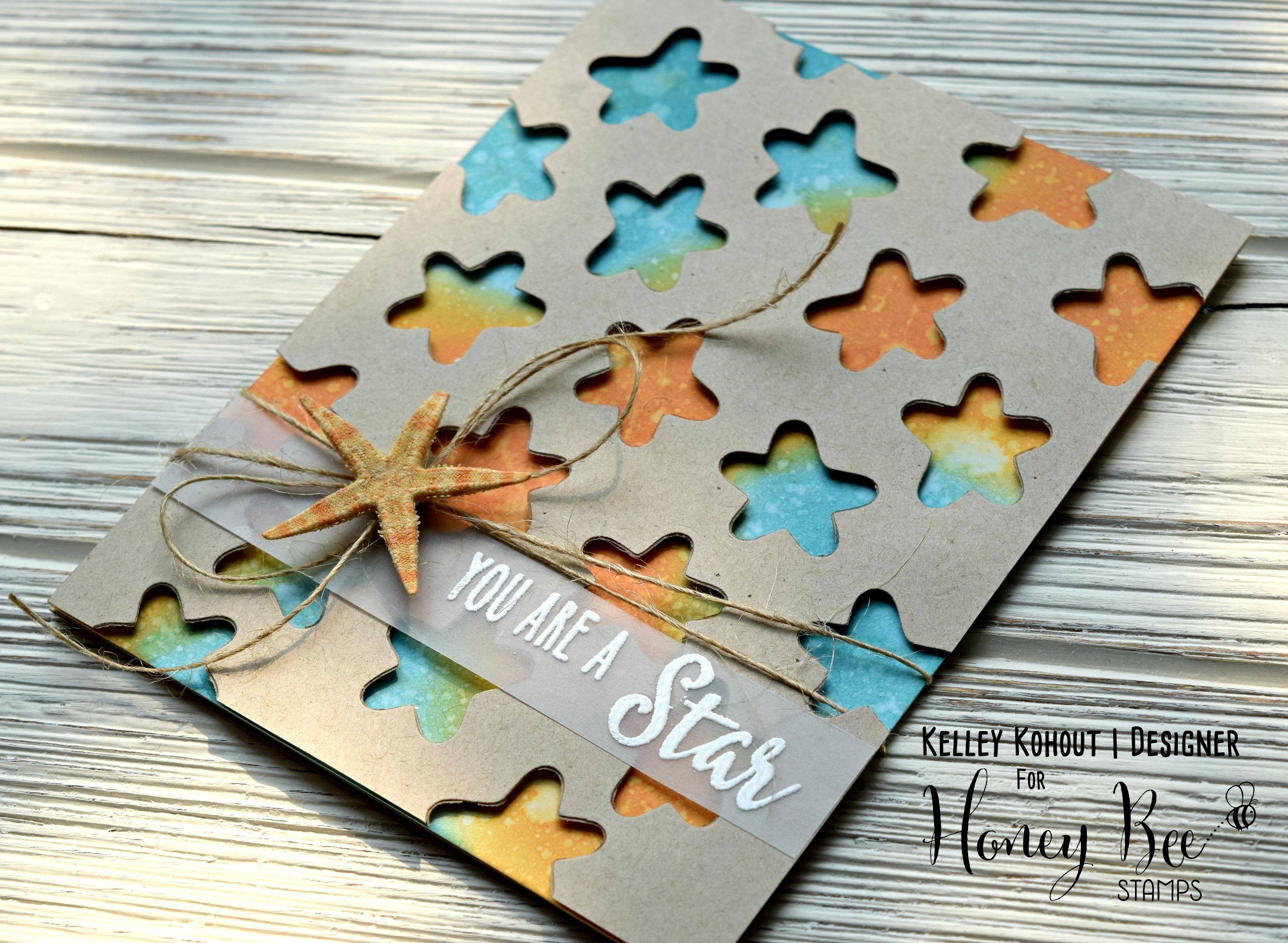 Easy Die Cut & Ink Blended Background!